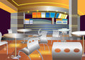 Interior of a modern bar vector illustration Royalty Free Stock Photo