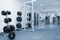 Interior of a modern gym Royalty Free Stock Photos