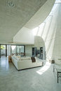 Interior modern house in beton Stock Images