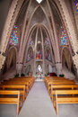 Interior of montserrat sanctuary the in montferri tarragona spain Stock Photography