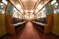 The interior of Moscow`s subway retro train of 1934. June 10, 2017. Moscow. Russia