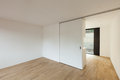 Interior new house empty room with sliding door Royalty Free Stock Image