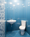 Interior of a new toilet room Royalty Free Stock Photo