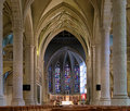 Interior of the Notre-Dame Cathedral in Luxembourg Royalty Free Stock Photo