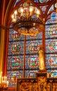 Interior of Notre Dame Paris Stock Photo