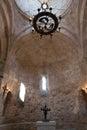Interior of Old Albanian church Kish Azerbaijan Royalty Free Stock Photo