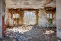 Interior of an old barn Royalty Free Stock Photo