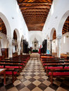 Interior Old Cathedral Royalty Free Stock Image
