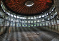 Interior the old gasworks in warsaw Stock Photography