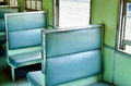 Interior of a old passenger train Royalty Free Stock Photo