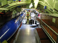 Interior of old submarine Royalty Free Stock Images