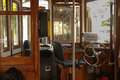 Interior of old tourist tram cabin Royalty Free Stock Photo