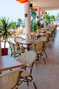 Interior open air restaurant Royalty Free Stock Photos