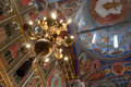 Interior of orthodox church Royalty Free Stock Photo