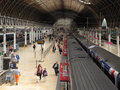 Interior of Paddington train station Royalty Free Stock Photo