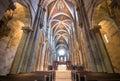 Interior of pannonhalma basilica pannonhalma hungary april on april in Royalty Free Stock Photo