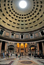Interior of the Pantheon Royalty Free Stock Photography