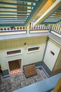 Interior patio from a second floor Royalty Free Stock Photo