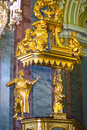 Interior of Peter and Paul cathedral in Peter and Paul Fortress, St. Petersburg, Russia Royalty Free Stock Photo