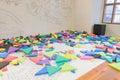 Interior playground play room children kindergarten colorful block Royalty Free Stock Photo