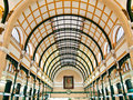 Interior of Post Office in Ho Chi Minh ,Vietnam Stock Image