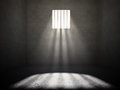 Interior of a prison cell Stock Image