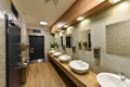 Interior of a public restroom Royalty Free Stock Photo