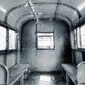 Interior of railway carriage Royalty Free Stock Photo