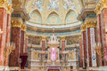 Interior of the roman catholic church St. Stephen's Basilica. Budapest Royalty Free Stock Photo