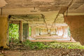 Interior of a ruined building, Cuba Royalty Free Stock Photo