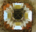 Interior of the ruined church village dol skoe kaluga region russia homeland famous russian architect bazhenov Royalty Free Stock Photos