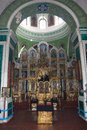 Interior of a russian orthodox cathedral Stock Photo