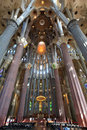 Interior of Sagrada Familia Royalty Free Stock Photography