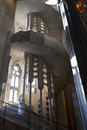 Interior of the Sagrada Familia church - Barcelona Royalty Free Stock Photos
