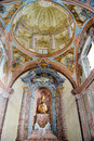 Interior of Saint Maria church at Morcote Royalty Free Stock Photo