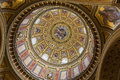 Interior of Saint Stephen Basilica in Budapest, Hungary. Royalty Free Stock Photo