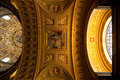 Interior of saint stephen basilica budapest illuminated ceiling cupola in st in Royalty Free Stock Photo