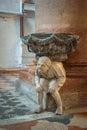Interior of Santa Anastasia Church, Verona, Italy Royalty Free Stock Photo