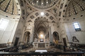 Interior of Santa Maria delle Grazie in Milan Royalty Free Stock Photo