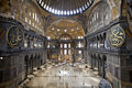 Interior of the Santa Sofia Mosque Royalty Free Stock Photography