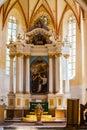 Interior saxon church copsa mare transylvania Royalty Free Stock Photo