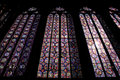Interior scenery of great cathedral with skylight Stock Images
