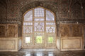 Interior sheesh mahal palace of mirrors an ancient decorations in lahore fort Stock Photography