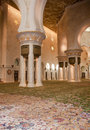 Interior of Sheikh Zayed Mosque Stock Images