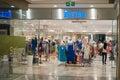 Interior of shopping mall modern centralworld isetan bangkok thailand Stock Photo