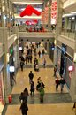 Interior of shopping mall xintiandi shanghai china february shoppers stroll around the ground floor an upmarket in the district Royalty Free Stock Photos