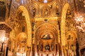 Interior shot of the famous cappella palatina in sicily palermo italy june on june palazzo reale palermo Stock Photography