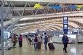 Interior shot inside passenger departure terminal, Kansai International Airport, Osaka, Japan Royalty Free Stock Photo