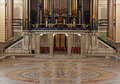 Interior of St Georges Hall, Liverpool, UK Royalty Free Stock Photography