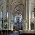 Interior of St. James Church in Kutna Hora, Czech Republic Royalty Free Stock Photo